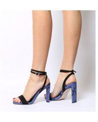 1dd7447fa75 Lyst - Office Haylee-r- Ankle Strap Block Sandal