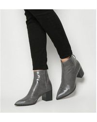 Office - Aromatic- Pointed Block Heel Boot - Lyst