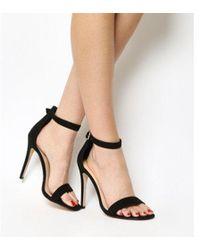 e348ba27c6 Lyst - Office Marlow Single Sole Strappy Sandals in Black