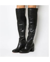 Office - Know It All Block Heel Knee Boots - Lyst