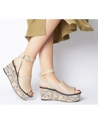 Office Money Honey Leather Wedge - Natural