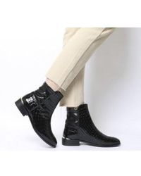 Office - Ashby- Stretch Panel Flat Boot - Lyst
