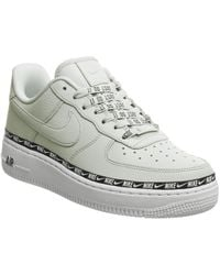 Nike - Silver Air Force 1 Swoosh Tape Trainers - Lyst