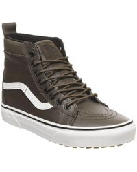 b5a220289878aa Lyst - Vans Unisex Sk8-hi Mte (mte) Honey leather Skate Shoe 7.5 Men ...