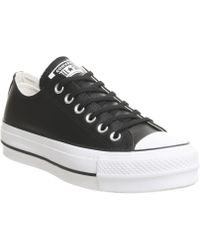 0b25aa70e3fb54 Converse - All Star Lift Low Leather Trainers - Lyst