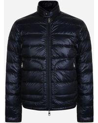 Moncler - Gewatteerd Slim-fit Donsjack 'acorus' Blauw - Lyst