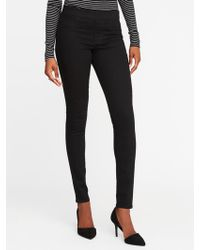 Old Navy - Mid-rise Never-fade Rockstar Black Jeggings - Lyst