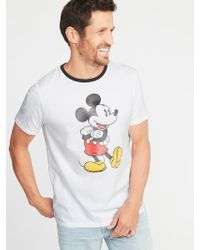 Old Navy - Disney© Mickey Mouse Ringer Tee - Lyst
