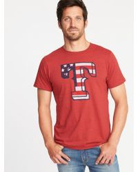 c314427d288 Lyst - Hollister Guys Americana Graphic Tee From Hollister in White ...