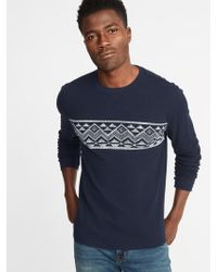 Old Navy - Built-in Flex Thermal-knit Tee - Lyst