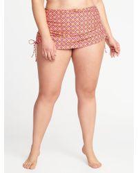 Old Navy - Smooth & Slim Plus-size Side-tie Swim Skirt - Lyst