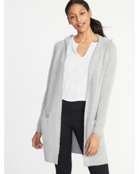 Old Navy - Open-front Super-long Hoodie - Lyst