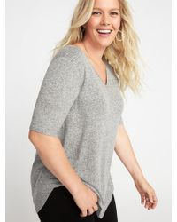 Old Navy - Luxe Plus-size Curved-hem Tunic - Lyst