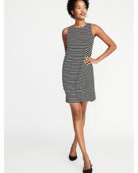 643e67545798 Old Navy Sleeveless Plus-size Jersey-knit Swing Dress in Black - Lyst