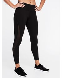 08408932ed Old Navy High-rise 7/8-length Mesh-trim Compression Leggings in Purple -  Lyst