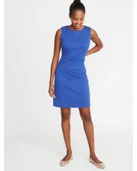 71458cd353dba Lyst - Old Navy Sleeveless Ponte-knit Sheath Dress in Blue
