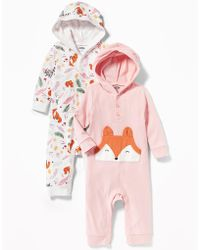 Old Navy - 2-pack Fox-graphic Hooded One-piece - Lyst