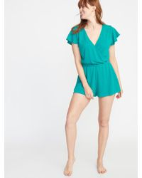 f3b62fad4e Forever 21 Terry Cloth Cover-up Romper - Lyst