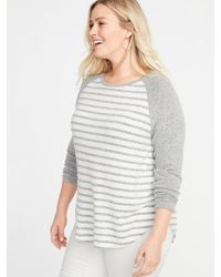 884896f27af Lyst - Old Navy Maternity Plush-knit Waist-defined Tunic in Blue