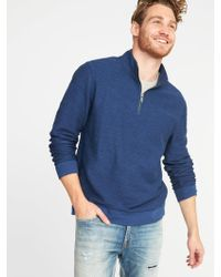 Old Navy - French-terry 1/4-zip Pullover - Lyst