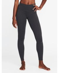 cb60bfbb18d Lyst - Old Navy High-rise Side-stripe Plus-size 7 8-length Yoga ...