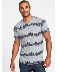 Old Navy - Soft-washed Printed Crew-neck Tee - Lyst