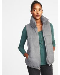 e4b2eb74fce Old Navy - Textured Frost-free Puffer Vest - Lyst