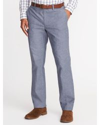 Old Navy - Straight Signature Built-in Flex Non-iron Pants - Lyst