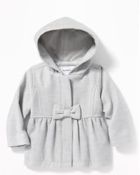 Old Navy - Hooded Bow-front Velour Coat - Lyst