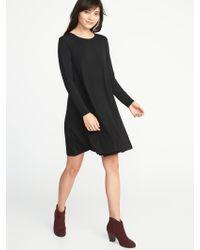 4ba1ad6c6ed Lyst - Old Navy Velvet-knit Swing Dress in Black