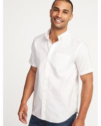 61e8a552 Lyst - Old Navy Slim-fit Clean-slate Built-in Flex Everyday Shirt in ...