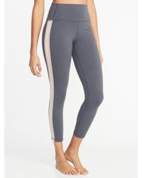 944b0473c23 Lyst - Old Navy High-rise 7 8-length Textured-jacquard Leggings