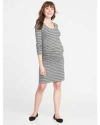 d022ca12693 Lyst - Old Navy Maternity Cross-front Bodycon Dress in Red