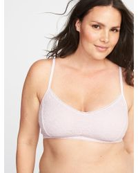 Old Navy - Plus-size Lace Cami Bralette - Lyst