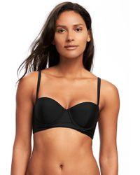 Old Navy - Underwire Long-line Balconette Bikini Top - Lyst
