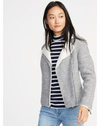 Old Navy - Sherpa-lined Moto Jacket - Lyst