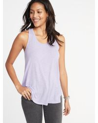 79fa979a8d951 Old Navy - Luxe Scoop-neck Swing Tank - Lyst