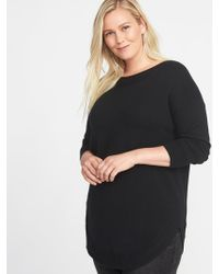 Old Navy - Plus-size Curved-hem Sweater - Lyst