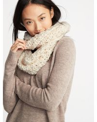 Old Navy - Textured Basket-weave Infinity Scarf - Lyst