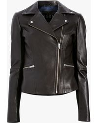 VEDA - Dallas Smooth Leather Jacket - Lyst