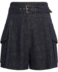 Derek Lam | Belted Short With Patch Pockets | Lyst