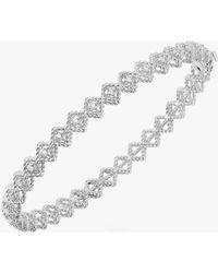 Roberto Coin - Single Row Diamond Bangle Bracelet - Lyst