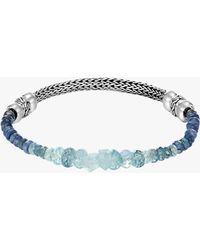 John Hardy - Classic Chain Aquamarine And Kyanite Bracelet - Lyst