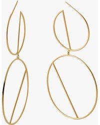 Lana Jewelry - Double Wire Eclipse Hoops - Lyst