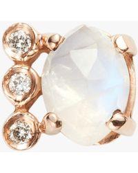 Jacquie Aiche - Diamond Aquamarine Bar Earring - Lyst
