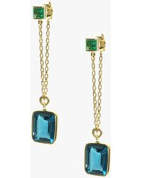 Yi Collection - Emerald And Topaz Earrings - Lyst