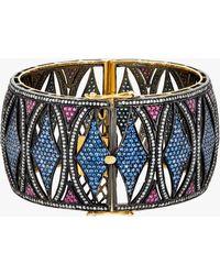 Amrapali - Sapphire And Ruby Bangle Bracelet - Lyst
