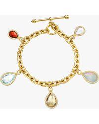 Nina Runsdorf - Gemstone Flip Charm Bracelet - Lyst