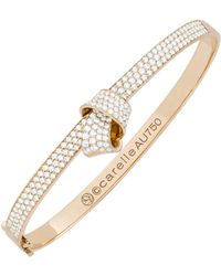 Carelle - Knot Pavé Diamond Bangle - Lyst