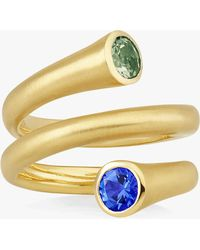 Carelle - Whirl Sapphire Spiral Ring - Lyst